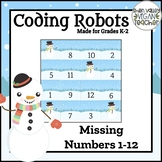 BEE BOT - Missing Numbers Snowmen - VA SOL Math 1.1a