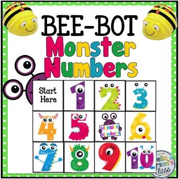 BEE BOT Monster numbers 1-10