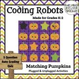 BEE BOT - Pumpkin Matching - Plugged & Unplugged