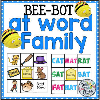 """BEE BOT  Reading  the """"at word Family"""""""