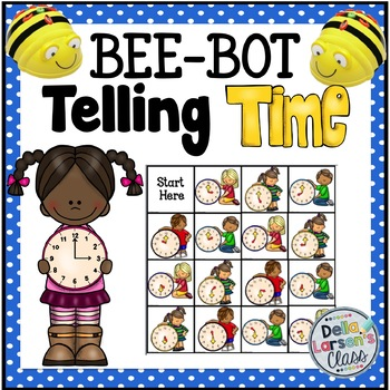 BEE BOT Telling Time on the Hour and Half Hour