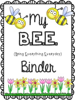 B.E.E. Binder {Bring Everything Everyday} Take Home Binder!
