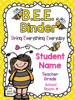 BEE Binder Covers **EDITABLE**