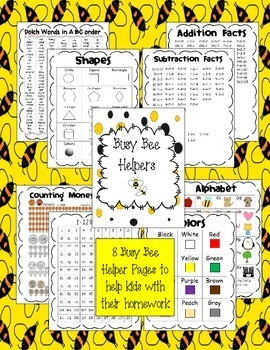 BEE Book {Bilingual & EDITABLE} - Homework and Organizational Binder for Kids