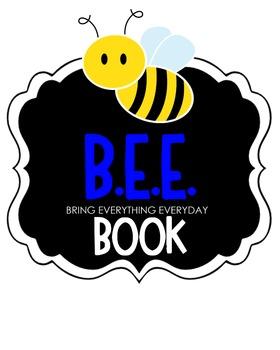 B.E.E. Book Clipart (blue)