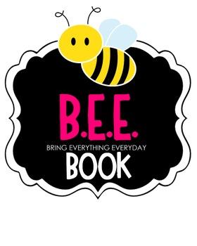 B.E.E. Book Clipart (pink)