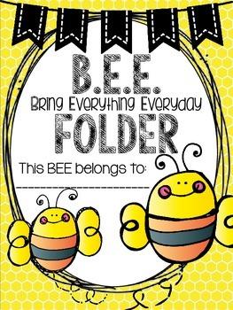 B.E.E. Folder {Bring Everything Everyday} Parent Communication Tool