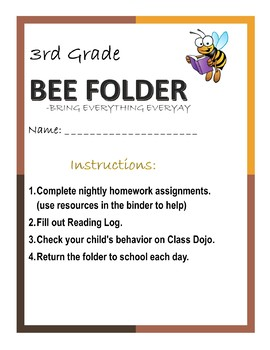 BEE Folder Front Page (Editable)