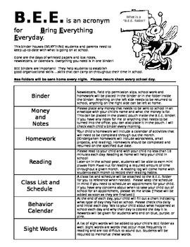 BEE Folder Information