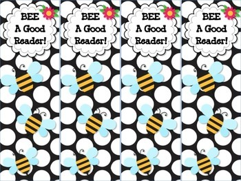 BEE Themed Reading Bookmarks