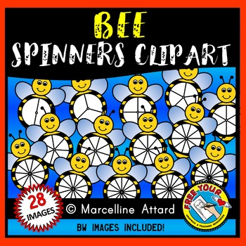 BEE SPINNERS CLIPART: SPRING CLIPART
