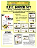 B.E.E. School-to-Home Communication Binder Set
