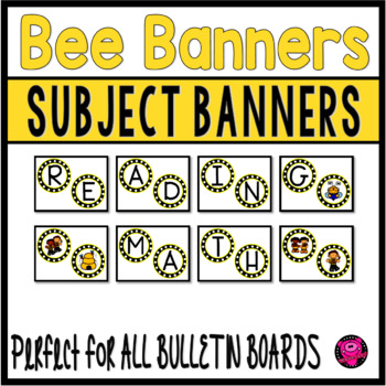 Bumble Bee Subject Banners