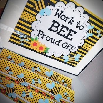 BEE Themed Classroom Decor Materials Pack