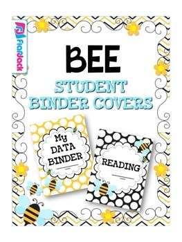 BEE Themed Student Binder Covers