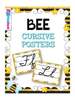 BEE Themed Cursive Alphabet Posters
