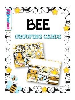 BEE Themed Grouping Cards