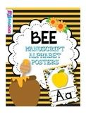 BEE Themed Manuscript Alphabet Posters