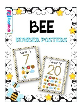 BEE Themed Number Posters 0 to 20