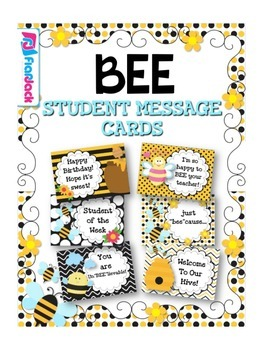 BEE Themed Student Message Cards (Postcards)
