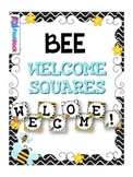 BEE Themed WELCOME Squares Sign