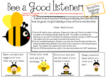A Language Game: BEE a Good Listener!