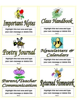 BEE binder - organization labels