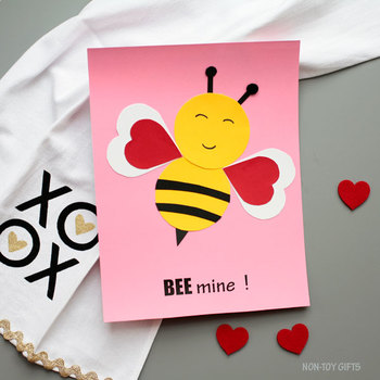 BEE craft for Valentine's Day - Bee mine! craft