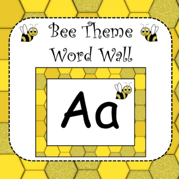 Bee Theme Word Wall Banner and Letters
