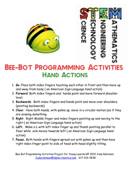 BEEBOT PROGRAMMING ACTIVITIES FOR YOUNG LEARNERS.