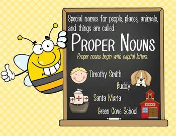 BEES - 1st grade GRAMMAR posters / Scott Foresman Reading