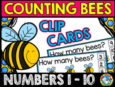 BEES COUNTING CLIP CARDS (SPRING ACTIVITIES PRESCHOOL) NUM