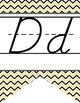 BEES - Alphabet Banner, handwriting, A to Z, D'Nealian manuscript / chevron