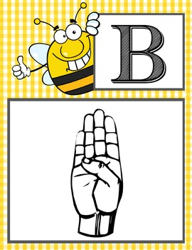 BEES - Alphabet Flag Banner, SIGN LANGUAGE