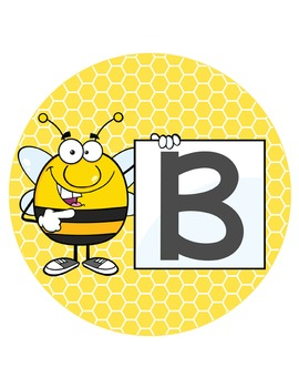 BEES - Bulletin Board Circle Letters / Word Wall / standing bee