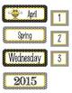 BEES Classroom Decor - Calendar Set