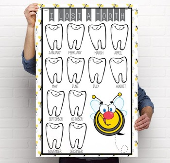 BEES - Classroom Decor: I lost a TOOTH - size 24 x 36
