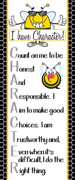 BEES - Classroom Decor: LARGE BANNER, CHARACTER, black