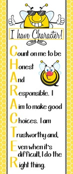 BEES - Classroom Decor: LARGE BANNER, CHARACTER, yellow