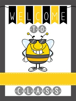 BEES - Classroom Decor: WELCOME Poster - 18 x 24, you personalize, Design B
