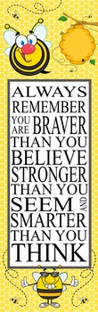 BEES - Classroom Decor: X-LARGE BANNER, Always Remember