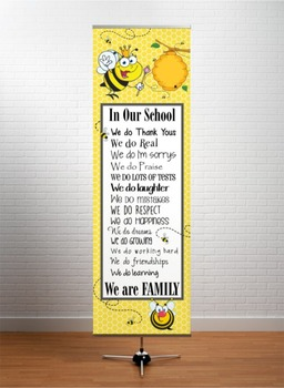 BEES - Classroom Decor: X-LARGE BANNER, In Our School ... We are Family