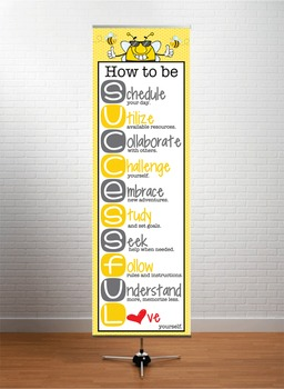 BEES - Classroom Decor: XLARGE BANNER, How to be Successful