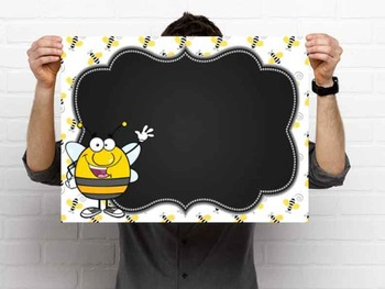 BEES - Classroom Decor: editable chalkboard  POSTERS / Bistro Chalk Markers