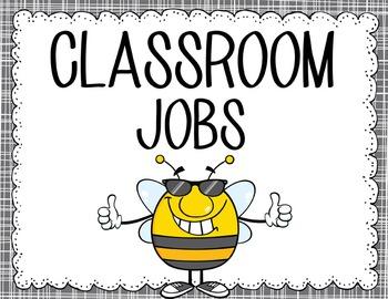 BEES - Classroom Helpers JOBS clip chart