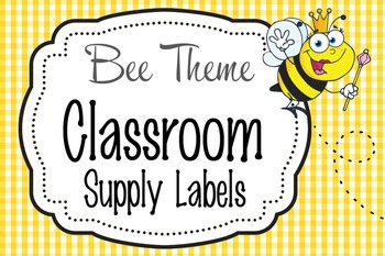 BEES - Classroom Supply Labels, editable