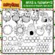BEES & HONEYCOMB - Clip Art
