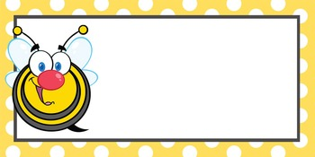 BEES - Labels, MS Word, EDITABLE