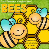 BEES Theme Unit Math, Science and Literacy Centers and Activities for Preschool