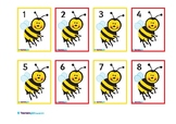 BEES NUMBER CARDS 1-30
